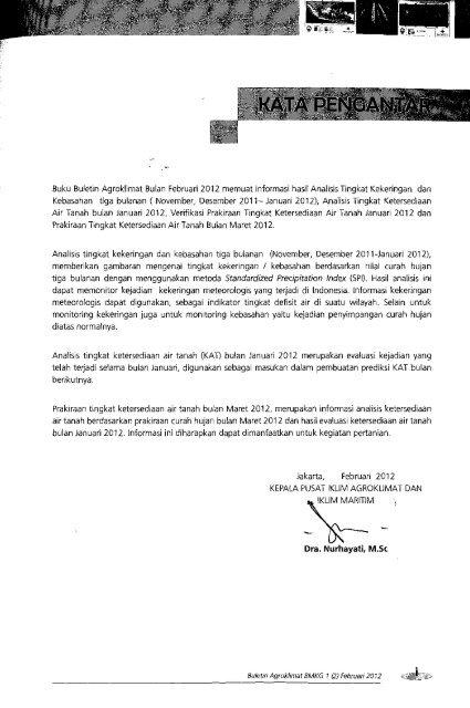 Buletin Agroklimat Februari 2012 - PDII – LIPI