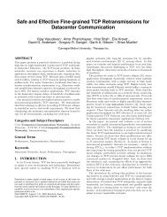 Safe and Effective Fine-grained TCP ... - Parallel Data Lab