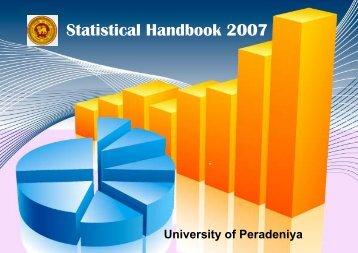 Statistical Handbook 2007 - University of Peradeniya