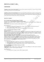 CHEMISTRY - 300 Level - University of Peradeniya