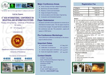 Brochure - University of Peradeniya