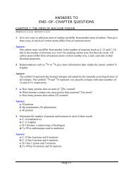 ANSWERS TO END-OF-CHAPTER QUESTIONS - Chemistry Courses