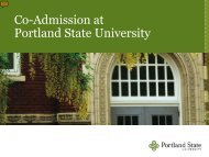review the information shared at Orientation - Portland State University