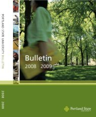 PSU 2008-2009 Bulletin - Portland State University
