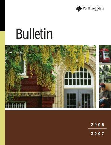 Bulletin - Portland State University