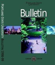 1998-1999 - Portland State University