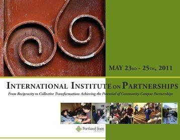 international institute on partnerships - Portland State University