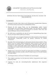 Hinweise zum Erstellen von Seminararbeiten - Lehrstuhl für ...
