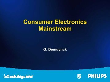 Consumer Electronics Mainstream