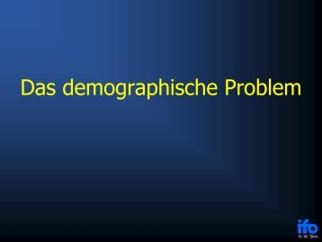 Das demographische Problem