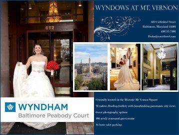 Wedding and Rehearsal Menu - Wyndham Peabody Court Hotel