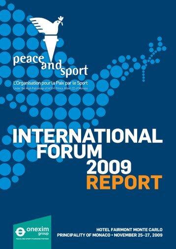 Compte rendu du Forum 2009 - Peace and Sport