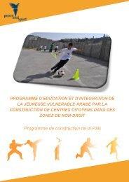 Programme de construction de la Paix - Peace and Sport