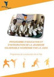 programme d'education et d'integration de la ... - Peace and Sport