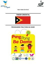Ping Pong Ba Dame - Peace and Sport