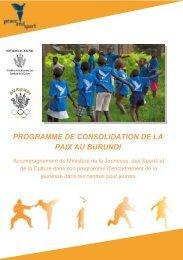 programme de consolidation de la paix au burundi - Peace and Sport