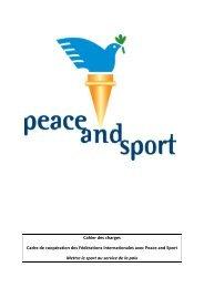 telecharger la brochure - Peace and Sport