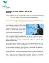 See the declaration - Peace and Sport