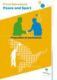 Proposition de partenariat - Peace and Sport