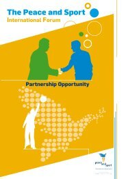 Partnership Opportunity - Peace and Sport