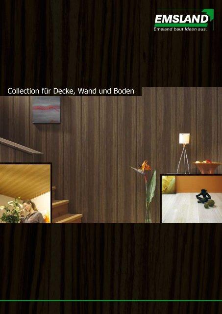 Collection für Decke, Wand und Boden - EMSLAND-PANEELE