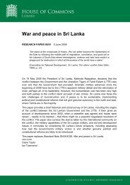 War and peace in Sri Lanka - Peace Palace Library