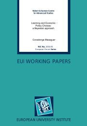 EUI WORKING PAPERS - Peace Palace Library