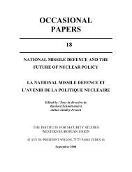 National Missile Defence and the future of Nuclear Policy