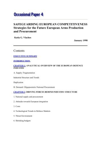 SAFEGUARDING EUROPEAN COMPETITIVENESS Strategies for ...