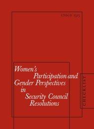 Checklist on Women's Participation and Gender ... - PeaceWomen