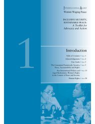 A Toolkit for Advocacy and Action [PDF, 260KB] - Peace Women
