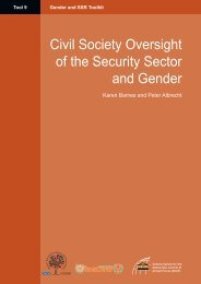 Civil Society Oversight of Security Sector and Gender - PeaceWomen