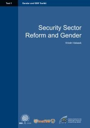 Security Sector Reform and Gender (Tool 1) - PeaceWomen