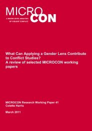 What Can Applying a Gender Lens Contribute to ... - PeaceWomen