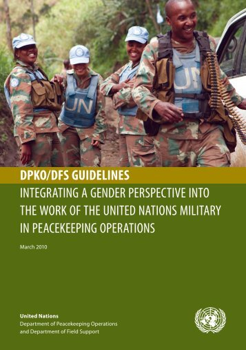 dpko/dfs guidelines integrating a gender perspective into the work of ...
