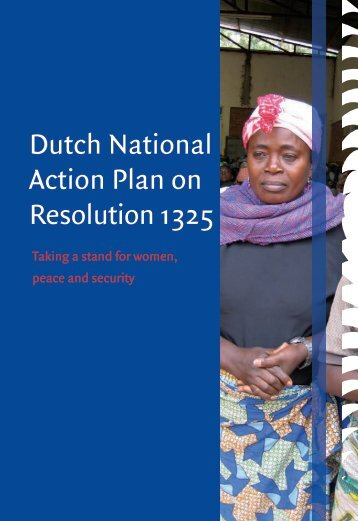 Dutch National Action Plan on Resolution 1325 - PeaceWomen