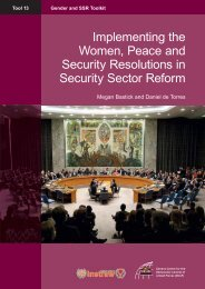 Implementing the Women, Peace and Security ... - PeaceWomen