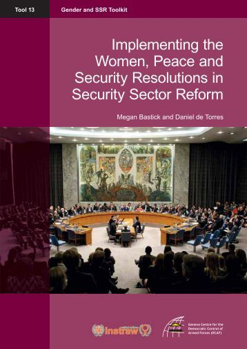 gender peace and security and the Women, peace and security open debate  (c) ensuring gender-responsive  planning and accountability for results (d) strengthening gender.