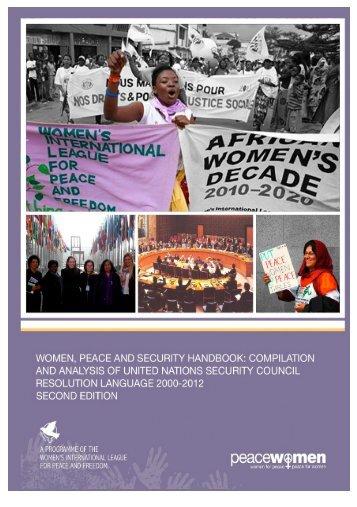 Women, Peace and Security Handbook: Second ... - PeaceWomen