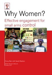 Why Women? Effective engagement for small arms control