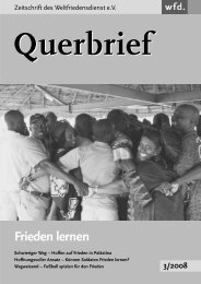 Querbrief Nr. 3/2008 - Frieden lernen - Weltfriedensdienst e.V.