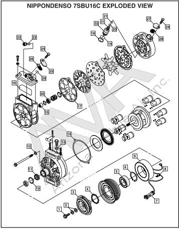 service parts list model 05g twin port compressor