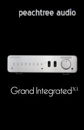 Grand Integrated X-1 manual - Peachtree Audio