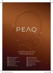 Headphone On-Ear PHP350BT-B/W - PEAQ