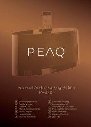Personal Audio Docking Station PPA500