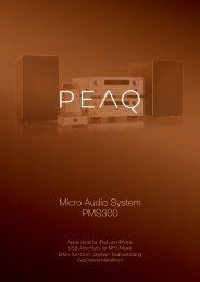 Micro Audio System PMS300 - PEAQ