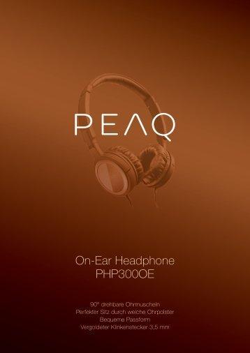On-Ear Headphone PHP300OE - PEAQ