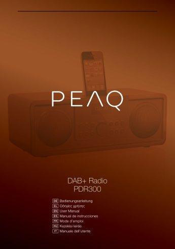 DAB+ Radio PDR300 - PEAQ