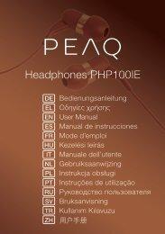 Headphones PHP100IE - PEAQ