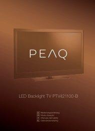 LED Backlight TV PTV421100-B - PEAQ